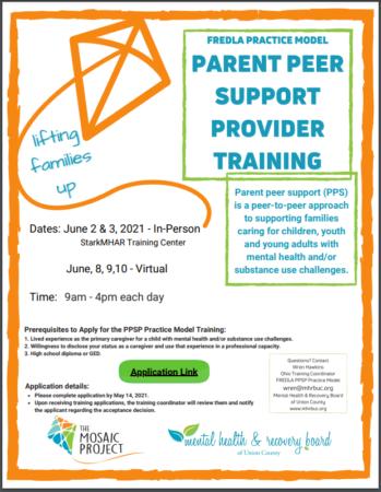 In Person Parent Peer Support Provider Training - Fredla Practice Model @ StarkMHAR - Inclusion Room | Canton | Ohio | United States