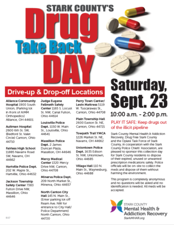 Drug Take Back Day flyer