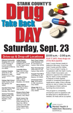 Drug Take Back Day poster