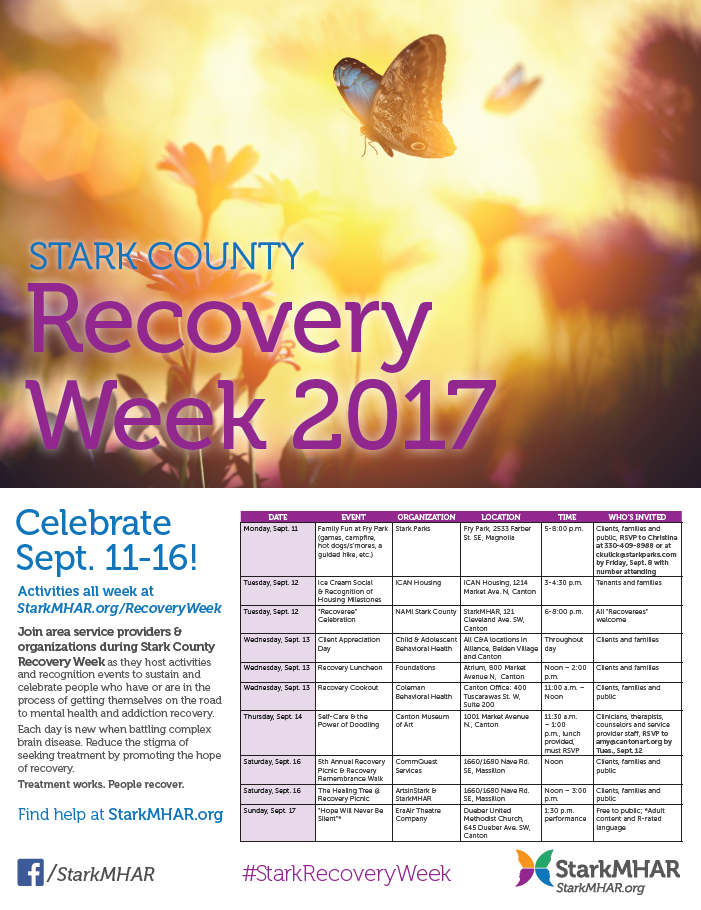 Recovery Week flyer