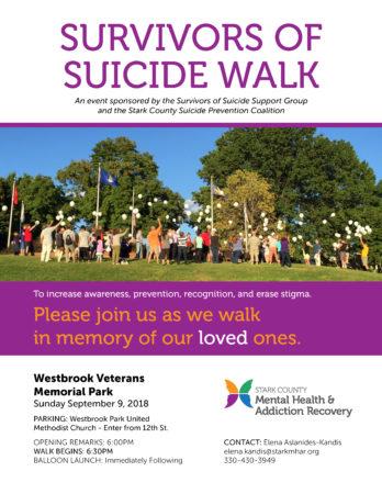 Survivors of Suicide Walk Flyer